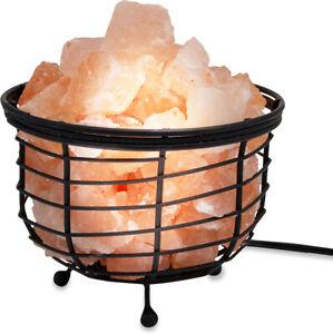 Zennery Himalayan Salt Wrought Iron Salt Basket Lamp - Kettle Shape by Zennery