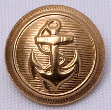"12 Count Buttons -  7/8"" Nautical Anchor Brass Color Shank Buttons M211.19"