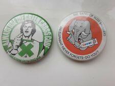 Vintage Green Cross Code und Crest Zahnpasta Elefanten vergessen nie Pin Anstecker