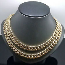"Real 10K Yellow Gold Men's Miami Cuban Chain 22"" Long,10mm(approx) ,Box Lock"