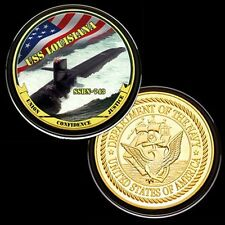 US Navy USS LOUISIANA  SSBN-743 GP Challenge coin 180#
