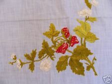 Vintage scarf / tablecloth with strawberrys