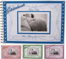 Gästebuch Fotoalbum Baby Taufe Geschenk Taufgeschenk - Rosen A4 Querformat
