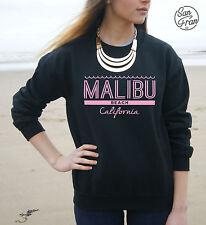 * Malibu Beach California Jumper Sweater Sweatshirt Top Fashion Tumblr Blogger *