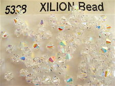 100 Clear Crystal AB Swarovski Crystal Beads Bicone 5328 4mm