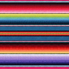 Fiesta Sombrero Blanket Stripe Cotton PRINT By The yard fabric Purple Blue Red