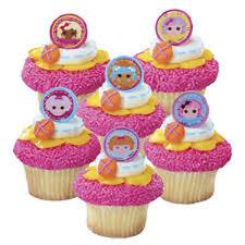 12 LALALOOPSY BIRTHDAY  PARTY SUPPLIES FAVORS GIRLS CAKE CUPCAKE RINGS