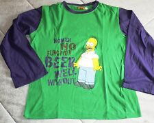 L3354 CAMISETA MANGA LARGA THE SIMPSONS TALLA M. COLOR VERDE