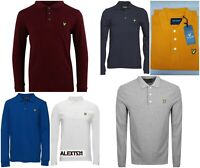 Lyle and Scott Long Sleeve Polo Shirt For Men Winter Collection NEW ARRAIVAL
