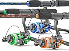 Rod Pole and Reel Combo Spinning Fishing Green Blue Orange One Pole Random Color