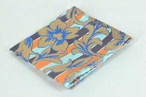 Lord R Colton Masterworks Tripoli Cafe Navy Floral Silk Pocket Square - $75 New