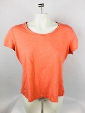 Columbia Women's T-Shirt Large Short Sleeve Orange Solid Shirt (A)