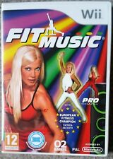 FIT MUSIC Wii FITNESS & DANCE EXERCISE GAME new, sealed BALANCE BOARD COMPATIBLE