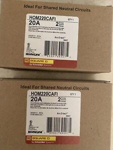 Square D HOM220CAFI 20 A Miniature Circuit Breaker