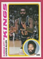 1978-79 Topps Basketball # 6 Lucius Allen Kansas City Kings