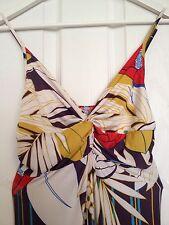 SPAGNOLO BELLA Multicolore Maxi Abito Taglia 10/12 elegante elastico.