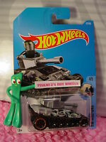2017 i Hot Wheels TANKNATOR #67✰gray/black camo tank;orange rim✰RIDE-ONS✰C/D
