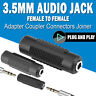 """5pcs Stereo 3.5mm Aux Female to Female 1/8"""" F/F Jack Audio Coupler Adapter"""
