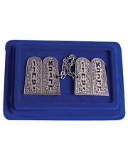 Israel Ten Commandments Luchot Talit Clips Jewish Judaica Talis Tallis Nickle