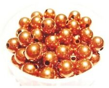 6 mm Solid Copper Round Hollow Beads Pkg. Of 100 /Made in USA #CPB6R