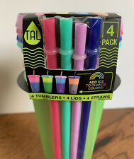 Tal Color-Changing Tumbler & Straw Set 24oz 4 Pack Tumblers, Cups & Lids Solids