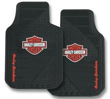 1 x Pair of PlastiColor Moulded Front Floor Mats -  Harley Davidson #1384