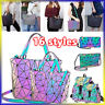 2020  Luminous Holographic Backpack Rainbow Crossbody Bag Shoulder Chest Handbag