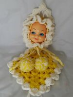"Vintage Doll Face Hanging 17"" Tall"