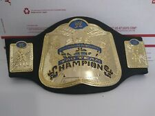 WWE WWF Tag Team Smackdown World Heavyweight Champion Title Belt Jakks Foam Kids