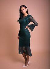 Reino Unido Mujer Vestido Ceñido al cuerpo de encaje verde talla 12,14