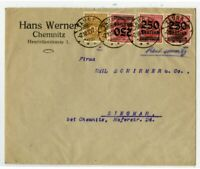 Germany Scarce Usage Cover 28 Total Stamps on Both Sides