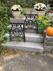 """Antique Cast Iron Legs 15"""" across 23"""" High from Desk 1800s, set of 2"""