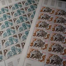 FEUILLE SHEET MÓNACO Nº1435/1436 x30 CRUZ ROJO MONEGASQUE 1984 NEUF MNH