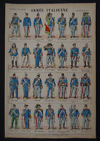 Planche n° 529 Imagerie nouvelle / ARMEE ITALIENNE esercito italiano army