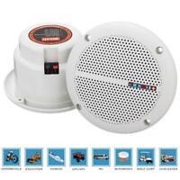 1 Pair Waterproof 25W Full Range Marine Boat Ceiling Wall Speakers Lawn Gar R3O4