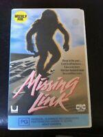 Missing Link VHS video tape ex-rental 1988 HTF OOP no DVD CIC Taft pre-historic