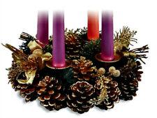 Pine Cone Advent or Holiday Wreath NEW! Boxed Christian Catholic Faith Christmas