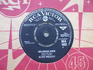 Elvis Presley - Jailhouse Rock / Treat Me Nice  RCA 1028 Hard To Find 1965 issue