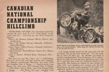 1961 Canadian National Championship Hillclimb -1-Page Vintage Motorcycle Article