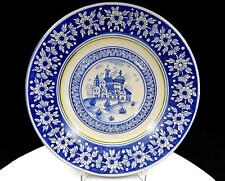 """PECCETTI DERUTA ITALY POTTERY HAND PAINTED 10 1/2"""" WALL PLATE"""