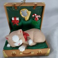 Hallmark Cat Naps Christmas Ornament 1997 Collectors Series Fourth In Seies