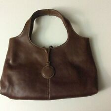 Enzo Angiolini Handbag Brown Leather