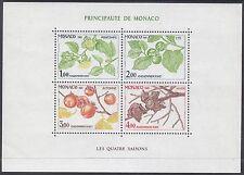 Monaco 1981 Seasons - Persimmon Tree Mini Sheet UM Yvert Bl20 Cat 11.00 Euros