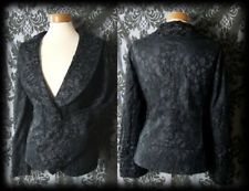 Goth Black Lace Highly Detailed DELINQUENT Coat Jacket 12 14 Victorian Vintage