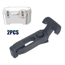 2PCS Rubber Elasticity T Draw Latch Assemblies 6PCS M5 Screws For Toolbox Cooler
