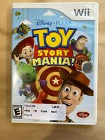 Wii EA Games Toy Story Mania 3D Disney Pixar Rated E Dart Ring Egg 4 Players