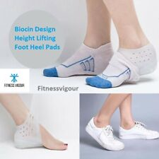 Invisible Height Increase Shoe Insoles Heel Spur Pads Foot Care Heel Pad Sock UK