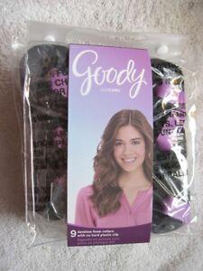 9 Goody Dentless Waves Jumbo Foam Rollers Hair Curlers Roll Curl No Hard Plastic