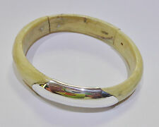 New Genuine 925 Sterling Silver Dog Tag on wood hand made stunning Bangle New