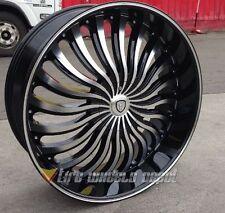 """22"""" INCH B24B Rims + Tires Cutlass Chevelle 300 Magnum Challenger Charger RT SXT"""